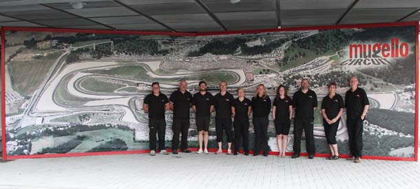 BookaTrack staff at Mugello